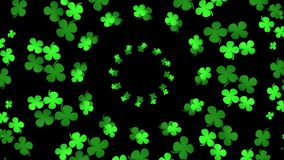 Green abstract clover stock video