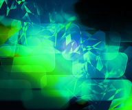 Green Abstract Computer Background Stock Image