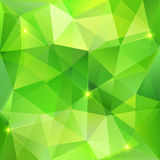 Green abstract crystal vector background Stock Photography