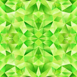 Green abstract crystal vector seamless pattern Royalty Free Stock Photography