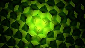 Green Abstract Cubes Background Royalty Free Stock Photography