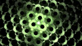 Green Abstract Cubes Background. 3d Rendering Stock Photography
