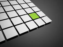 Green abstract cubes background Stock Image