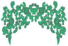 Green abstract curly shapes use for background dec Royalty Free Stock Image