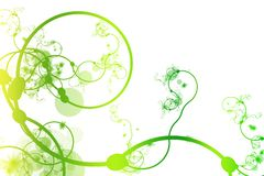 Green Abstract Curving Line Vines stock illustration