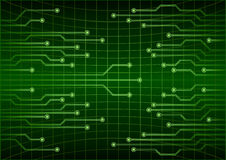 Green abstract cyber future technology concept background, circuit, binary code . Eps 10 vector illustration Stock Images