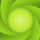 Green abstract diaphragm Royalty Free Stock Image