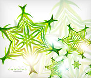 Green abstract eco wave swirls with lights Stock Images