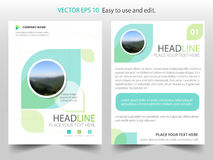 Green abstract ecology Brochure design template vector. Business Flyers infographic magazine poster.Abstract layout template , royalty free illustration
