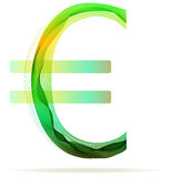 Green abstract Euro sign Royalty Free Stock Images
