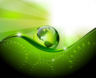 Green abstract fantasy background Stock Photo