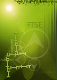 Green abstract, financial. A green based background. Financial theme FTSE Royalty Free Stock Images