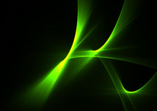 Green abstract flames