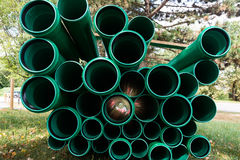 Green Abstract Flare Pipes Openings Glow Industrial Tubes Royalty Free Stock Photo