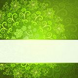 Green abstract floral ornament background Stock Photo