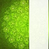 Green abstract floral ornament background. With place for your text Royalty Free Stock Photography