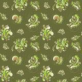 Green abstract floral pattern. vector background Stock Image