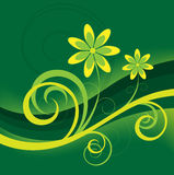 Green Abstract Flower Background Stock Photo