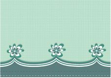 Green flower bordered background. Green abstract flower bordered  background Stock Photography