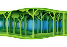 Free Green Abstract Forest Nature Landscape Paper Art Background Stock Photo - 114514580