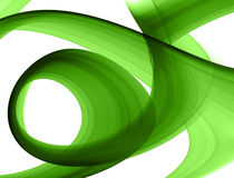 Green abstract formation. Over white - design element Royalty Free Stock Photos