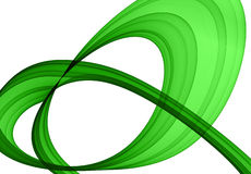 Green abstract formation. Over white - design element Royalty Free Stock Image