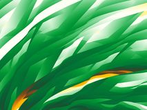 Green abstract fractal background with a dynamic pattern resembling grass Royalty Free Stock Photography
