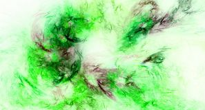 Green abstract fractal background. Image Royalty Free Stock Photo