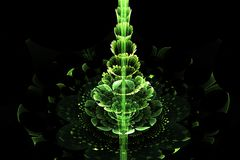 Green abstract fractal Christmas tree Stock Images