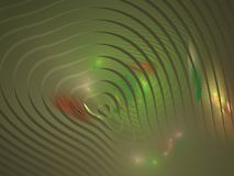 Green abstract fractal in the form of divergent circular waves Stock Photography