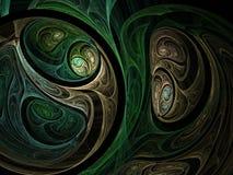 Green abstract fractal Royalty Free Stock Photos
