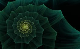 Green abstract fractal Stock Photo