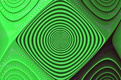 Green Optical Illusion Digital Abstract Fractal stock image