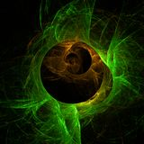 Green abstract fractal wallpaper with different and many shapes. Abstract background with different forms and different colors for any purposes royalty free illustration