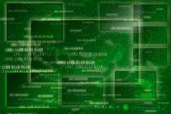 Green Abstract Frame Background, Digital Style Stock Image
