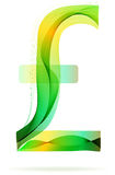 Green abstract Frank sign. With shadow over white Stock Image