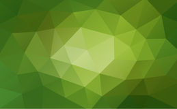 Green abstract geometric background, rumpled triangular, low poly style. Vector illustration Royalty Free Stock Image