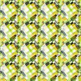 Green abstract geometric background seamless vector pattern Royalty Free Stock Images