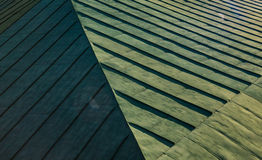 Green Abstract geometric backgroung of roof Stock Images