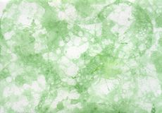 Green abstract hand painted background with bubbles. Green abstract hand painted background Royalty Free Stock Images