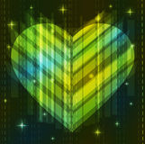 Green abstract heart. Valentine background Stock Images
