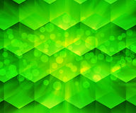Green Abstract Hex Texture Royalty Free Stock Image