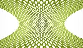 Green abstract hexagonal mesh Stock Image