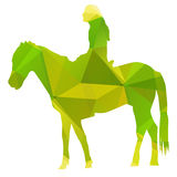 Green abstract horse Royalty Free Stock Image