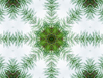 Green abstract kaleidoscope background Royalty Free Stock Photos