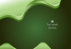 Green abstract layer wave background Stock Photos