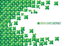 Green abstract with leaf design Royalty Free Stock Image