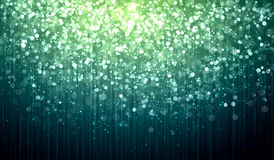 Green abstract light background. Green colour bokeh abstract light background. Illustration Stock Images