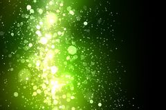 Green abstract light background. Green colour bokeh abstract light background. Illustration Stock Photography