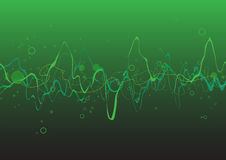 Green Abstract lines background. Composition of curved lines - great for backgrounds, or layering over other images Stock Image